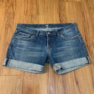 7 For All Mankind Embellished Jean Shorts